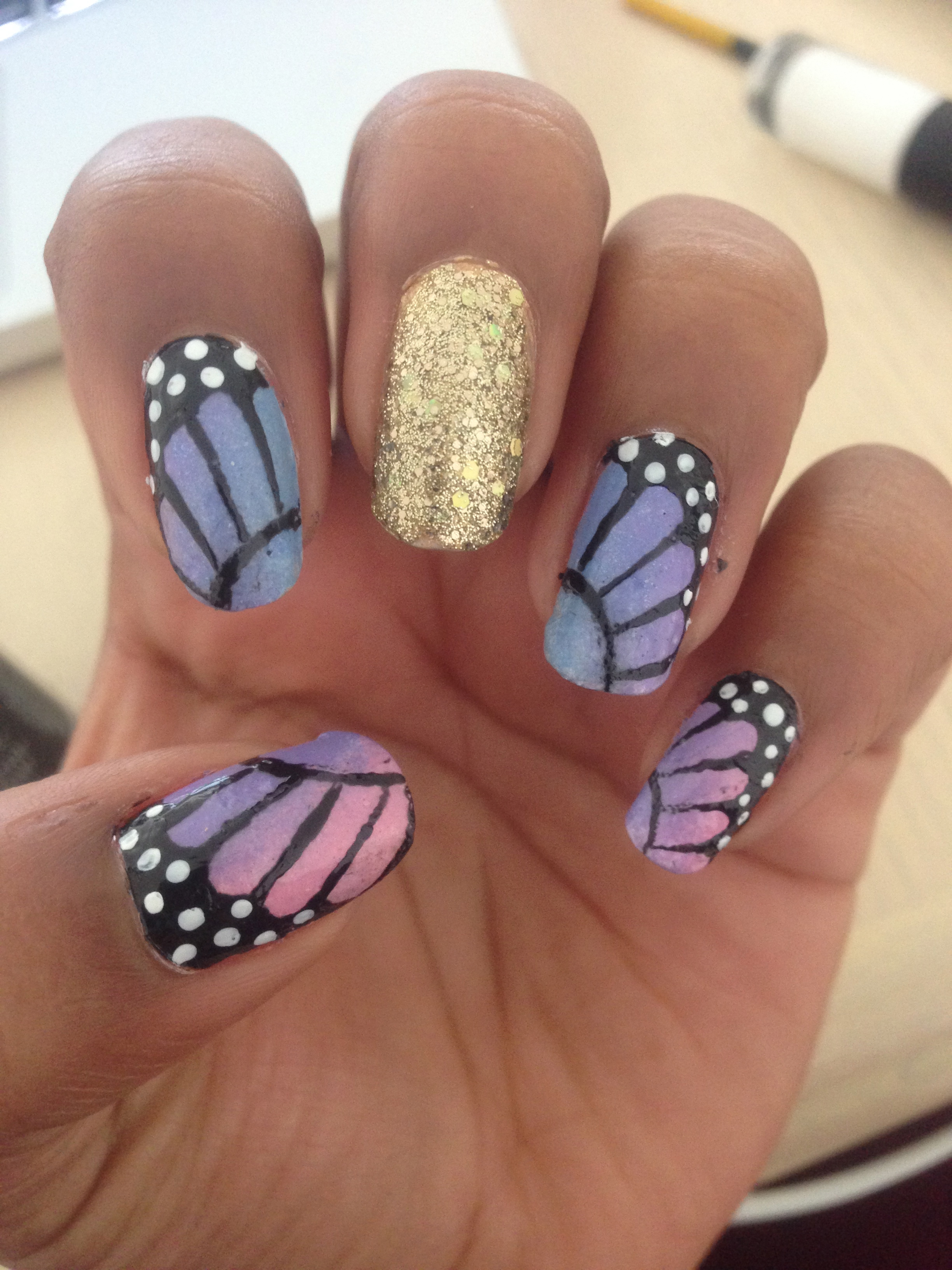 Nail Art Tutorial Monarch Butterfly Wings
