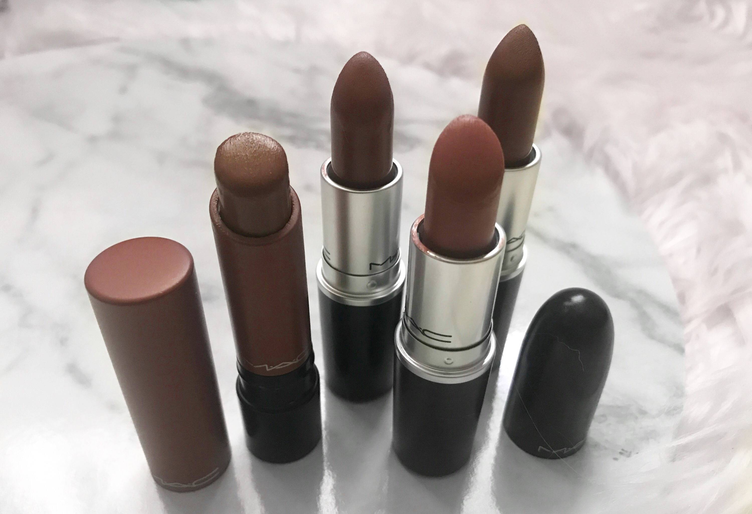 Mac Top Nude Lipsticks  Browndarker Complexion-9515
